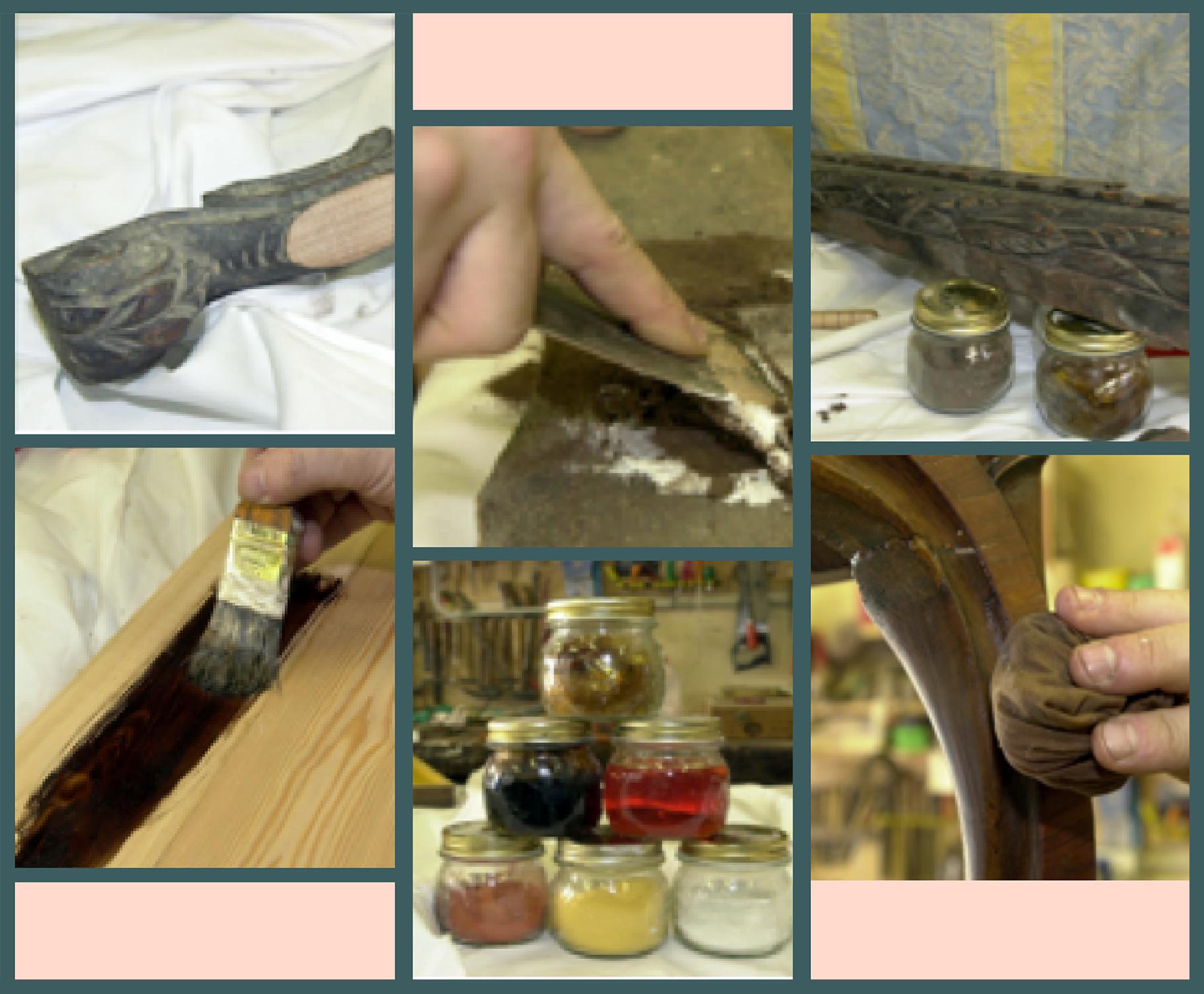 Corso di restauro legno HR - mosaico foto